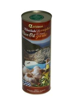 Оливковое масло с чесноком 1л греческое ARISTEON