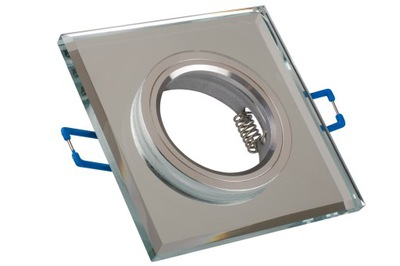 Галогенный прожектор LED GU10 квадрат зеркало кристалл