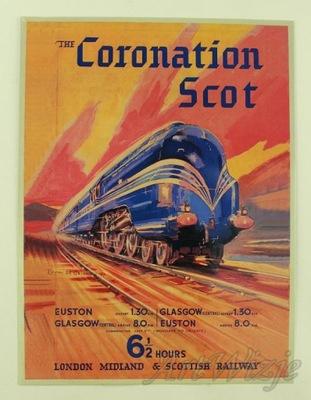 Coronation Scot локомотив плакат британская железная дорога