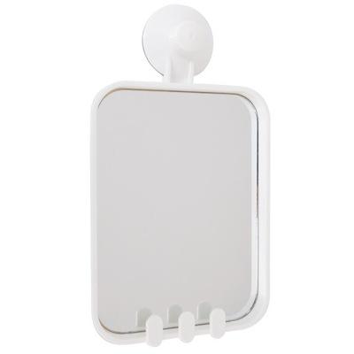 Zrkadlo kúpeľňa kozmetické s prísavky BIELA