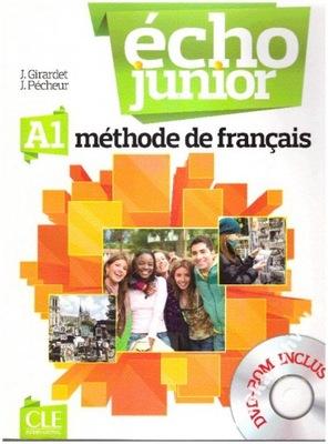 Echo junior A1 podręcznik + DVD NOWY francuski