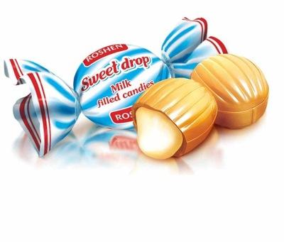 Конфеты Sweet Drop молочное Капля Рошен 1кг