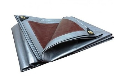 Krycia plachta - Celta - PLANDEKA 3x5 strieborná hnedá 5x3m (210g / m2)