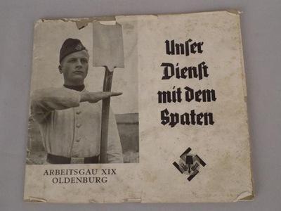солдат Unser Dienst mitdem Spaten III Rzesza1938
