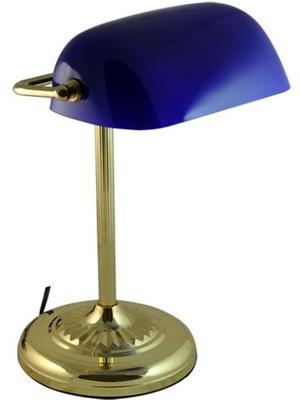 Stolové lampy - Svietidlá - Svietidlá - Stolové lampy - Lampa lampka bankierska bankierka NIEBIESKA HR-080