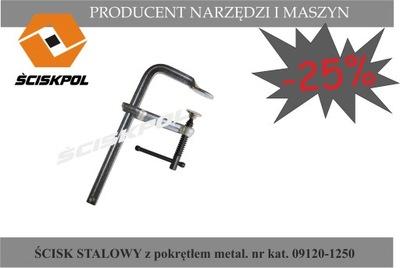 Zverák, svorka - Oceľová svorka s kovovým krytom 1250/120, ŚCISKPOL