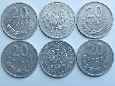 Монета 20 гр копеек 1965 года красивая