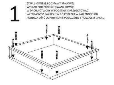 Świetlik - wyłaz dachowy 80x80cm ALUMINIUM !