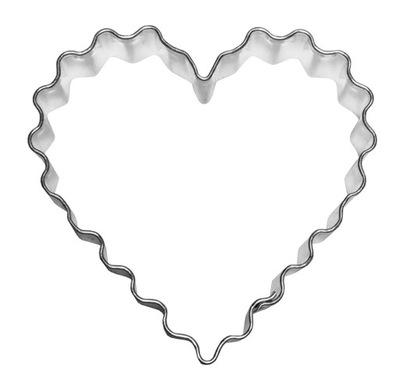 Прессформа сердце ГОРОДЧАТЫЕ 5 ,8 см - ??? сердца