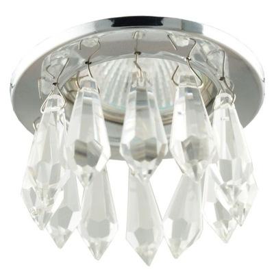 Lampa, luster, svietidlo -  oczko sufitowe Candellux SK-65 z kryształkami MR16