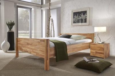 Łóżko dębowe LAST 140x200, lite naturalne drewno