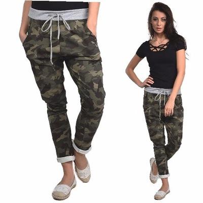 f84a4b48 Spodnie damskie moro baggy chinosy PLUS SIZE 2XL - 7143748273 ...