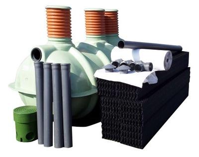 Čistiareň odpadových vôd, a 3000 l - 7, os + 8 pakety štrku