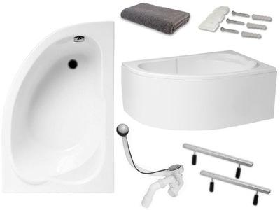 Ванна Угловой 130x85 сифон корпус | гарантии . 15 ЛЕТ