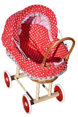 Wiklinowy wózek dla lalek wozek wózki 16 kolorów