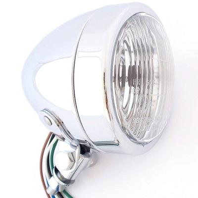 LAMPA PRZEDNIA STOŻEK GŁADKA REFLEKTOR H4 - SUPER