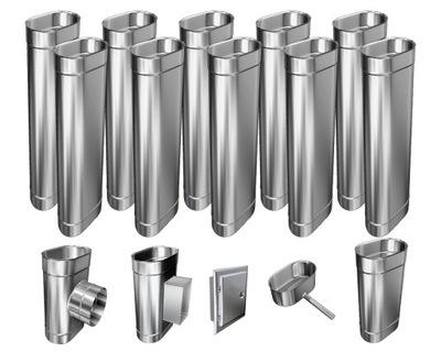 Kotol - 1mm CHIMNEY INSERT 12m 130x220 Tepelne odolný HIT