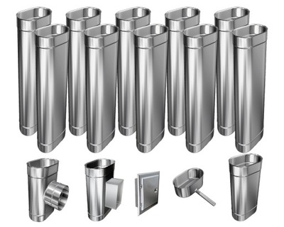 Kotol - 1mm CHIMNEY INSERT 12m 110x180 Tepelne odolný HIT