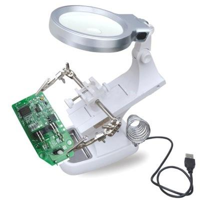 Tretej strane držiaka s zväčšovacie sklo LED svetelné 3x/4,5 x