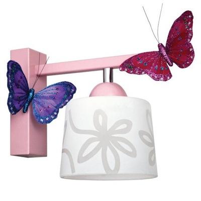 Svietidlá do detskej komory - NOVÉ Sconces pre BUTTERFLY girl pink rose ZDARMA