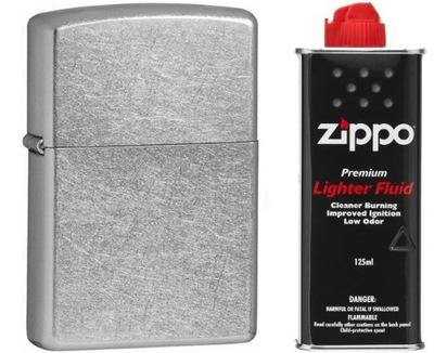 зажигалка Zippo 207 Street Хром бензин