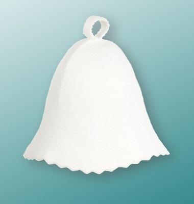 САУНА шапка для САУНУ войлок белая НИТЬ Универсальная