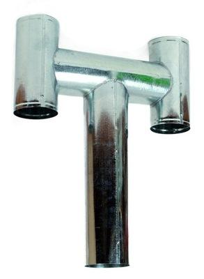 DEFLEKTORU typ H 150 mm, ZÁKLADŇA pozinkované POTRUBIE