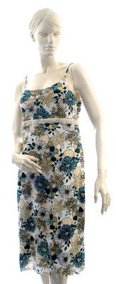sukienka w kwiaty trapezowa r S