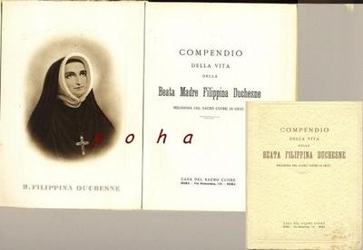 Beata Filippina Compedio della vita 1940