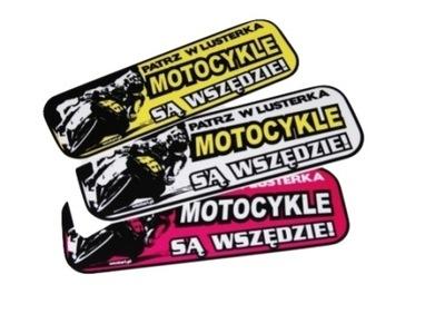 Naklejka Patrz w lusterka motocykle sa wszedzie