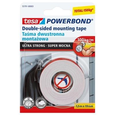 TESA лента двусторонняя Монтаж супер крепкая 1 ,5mx19mm