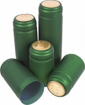 Колпачки термоусадочные зеленые 10шт