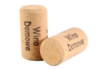 Пробки для вино PRESTIGE 44x23 - надпись : вино домашние