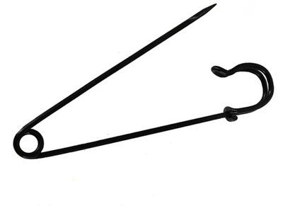 булавками декоративные ШОТЛАНДСКИЙ 76 мм черные