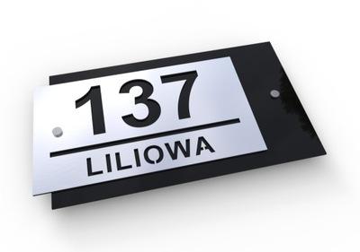 W3 3D Izby na dome Podpísať adresu 34x19 ALU