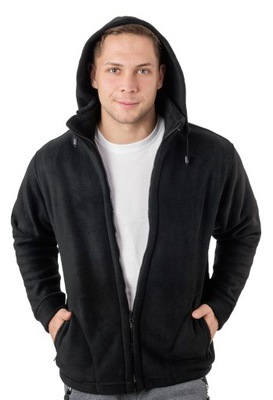Polar Męski Bluza Polarowa Męska MAX01 5XL czarna