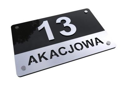3D W1 Číslo na dome Prihlásiť 35x25 adresu Alu
