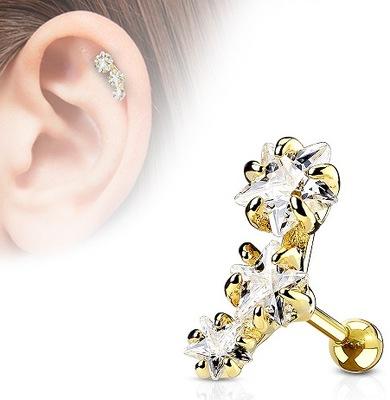 c63a087c34b748 sztanga do ucha chrząstki tragus kolczyk 1.2/6/3mm - 7288125517 ...