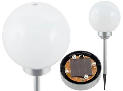 солнечная лампа молочное белая шар 20cm 4 LED P020