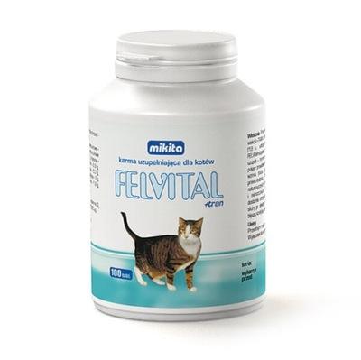 Mikita FELVITAL + рыбий ЖИР витамины для кота 100tabl