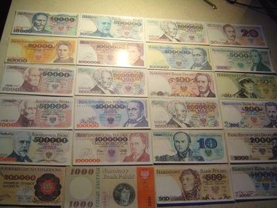 польский  комплект 24 штук .банкнот с ПНР