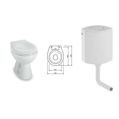 WC misa - Kompaktné koliesko Junior pre škôlky pre škôlky nízke 33