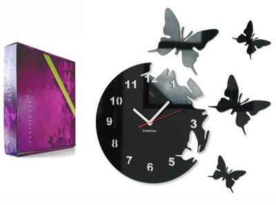 современный большой часы настенный бабочки бабочки тихий
