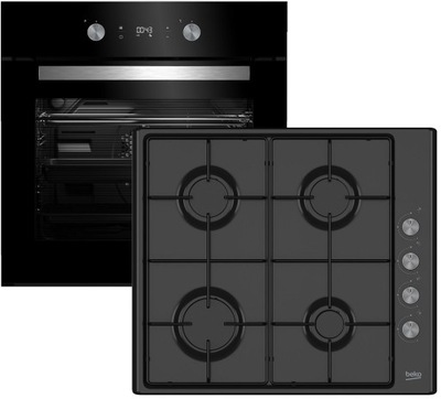 Черный zesta Beko BIE24301 плита газовая HIZG64120S