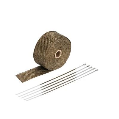 Bazaltowy bandaż termoizolacyjny TURBO 10m +opaski