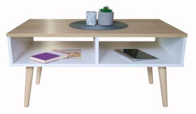 Журнальный столик скамья в скандинавском стиле