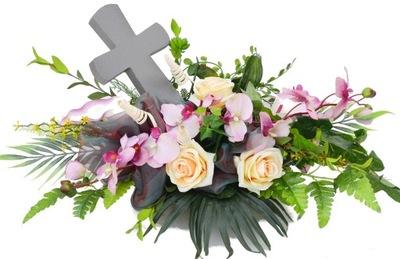 VEĽKÉ kytice headdress na cintorín, hrob, AKO žiť