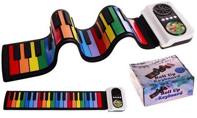 Flexibilné KLÁVESNICE klavíra roll-up orgánov štúdia