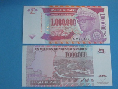 Заир 1000000 Zaires 1996 P-Семьдесят девять UNC