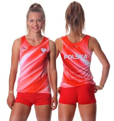 Koszulka biegowa POLSKA - rozmiar XS - damska
